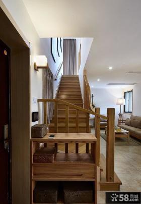 日式简约风格装修复式房屋楼梯设计