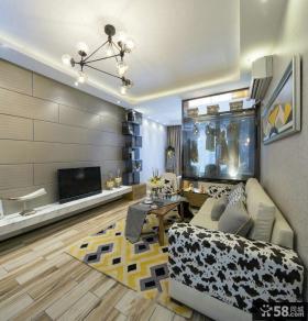时尚现代方块客厅背景墙设计