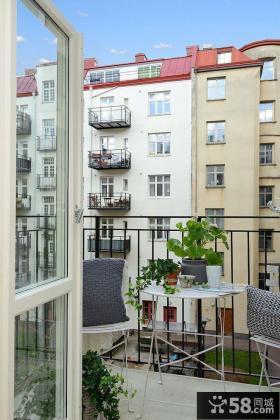 北欧风格家庭小阳台图片