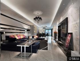 现代简约客厅吊顶装修效果图大全2013图片