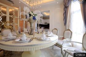 美式别墅豪华餐厅图片