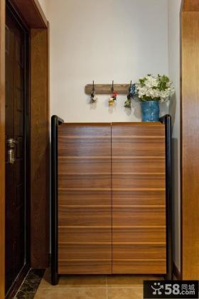 美式家居实木鞋柜设计效果图片