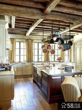 美式乡村风格厨房吊顶