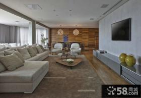 日式装修客厅电视背景墙图
