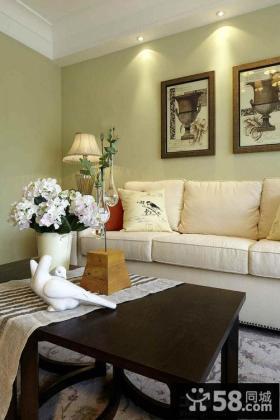 美式风格装修客厅装饰画图片欣赏