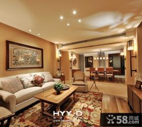 美式风格二居室客厅装修效果图