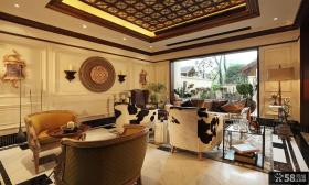 美式乡村精装修室内客厅图片