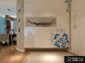 两房一厅新婚房装修 简约的进门玄关效果图