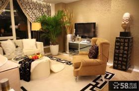 美式风格客厅电视背景墙效果图片大全