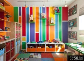 2013现代风格儿童书房装修效果图