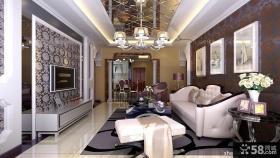 欧式客厅沙发背景墙