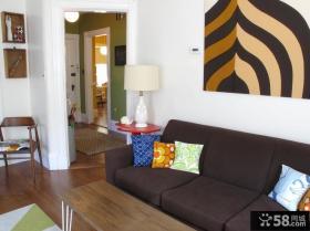 美式乡村风格家装沙发背景墙装修效果图