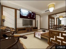 2013最新中式客厅电视背景墙装修图片