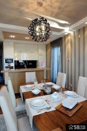 家庭设计餐厅窗帘效果图大全