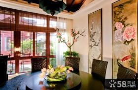 中式古典别墅客厅吊顶装修效果图大全2014图片