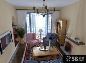 托斯卡纳风格客厅电视墙效果图