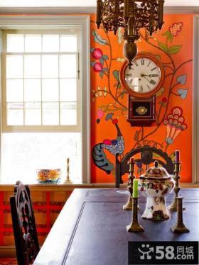 餐厅壁画背景墙效果图