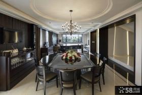 现代别墅餐厅设计室内家装效果图