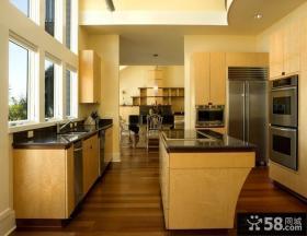 美式风格装修厨房整体橱柜效果图