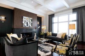 三房两厅两卫现代客厅装修效果图大全2014图片