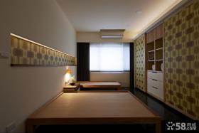 简单设计双人卧室效果图