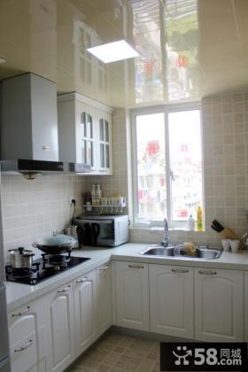 新婚欧式家装厨房橱柜效果图