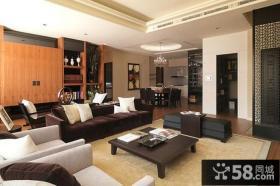 现代中式风格客厅隔断效果图大全