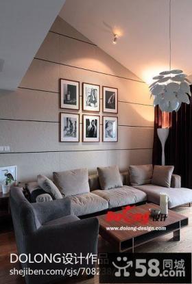 复式楼家装客厅设计效果图