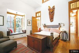 美式设计卧室飘窗图片大全欣赏