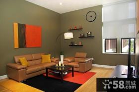 60平米小户型客厅沙发背景墙装修效果图