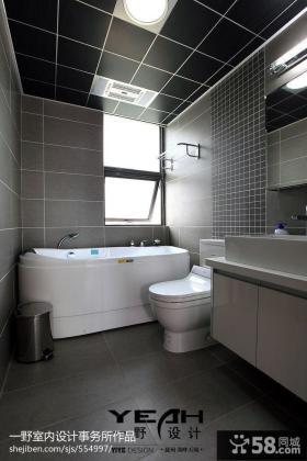 现代风格室内卫生间浴室效果图