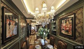美式新古典风格餐厅吊灯图片
