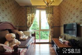 美式一室一厅客厅装修样板房效果图