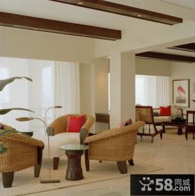 三室一厅装修效果图 三室一厅客厅阳台效果图