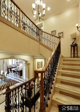 欧式铁艺家装楼梯
