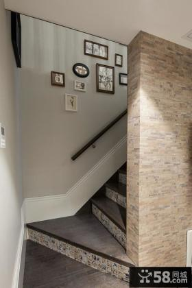 美式风格别墅楼梯家装设计效果图