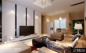 现代简约家居客厅电视背景墙装修设计图