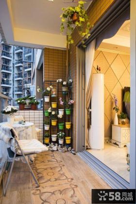 东南亚混搭家居阳台装修效果图