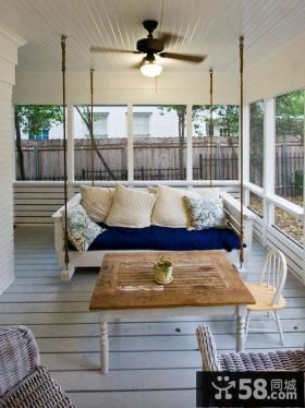 休闲别墅阳台布置图片