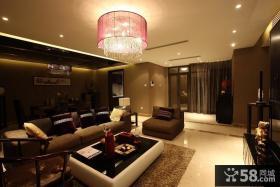 中式现代客厅吊顶装修效果图