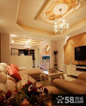 欧式风格家装客厅吊顶装修效果图
