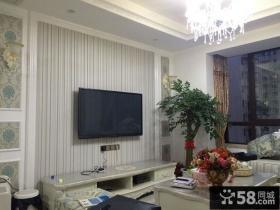 最新欧式风格小户型客厅背景墙图片欣赏
