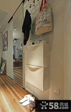 小户型简易玄关鞋柜效果图