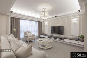 简欧风格别墅电视背景墙设计图片欣赏