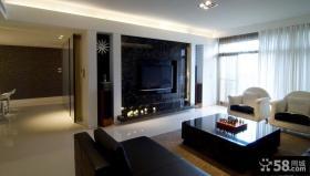简约现代设计客厅电视背景墙大全