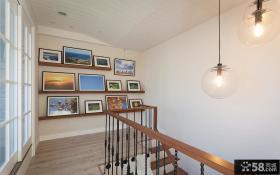 田园风格楼梯间相片墙图片