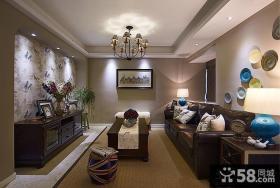 美式风格一室一厅设计图片大全欣赏