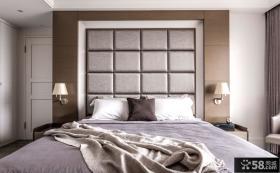 中式现代风格卧室背景墙设计