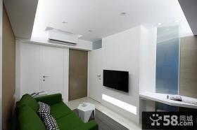 宜家精装修设计客厅电视背景墙图片