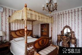 欧式地中海卧室布置